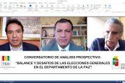 """El TED La Paz realizó el Conversatorio de Análisis Prospectivo """"Balance y Desafíos de las Elecciones Generales en el departamento de La Paz"""""""