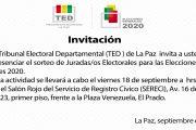 SORTEO DE JURADOS ELECTORALES