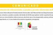 Reforzamiento de capacitación para juradas y jurados electorales de El Alto